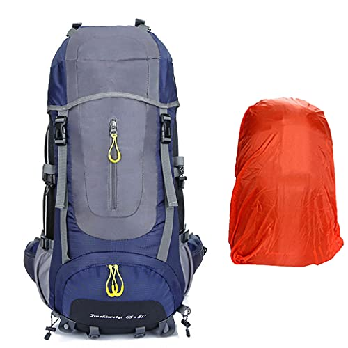 ZXZS Outdoor Large Hiking Backpack Suitable For Mountaineering, Camping, Skiing (with Rain Cover)
