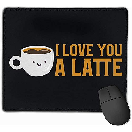 Ich Liebe Dich EIN Latte Rechteck rutschfestes Gummi Mousepad Gaming Mouse Pad