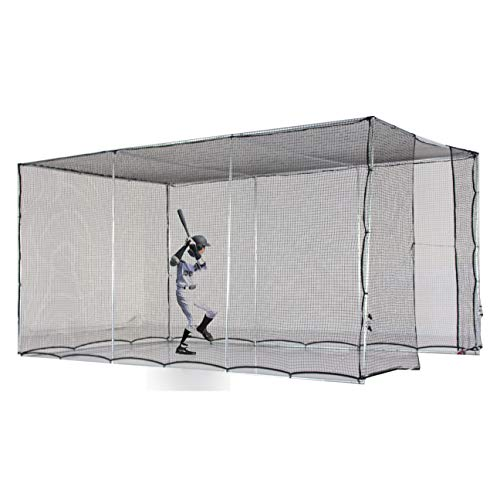 Kapler Baseball Batting Cage,Batting Cage Backyard Training Net for Baseball Softball, with Wheels Rolling, Portable to Move Softball Baseball Training Cage Equipment 16.4' (L) X10' (D) X8' (H).