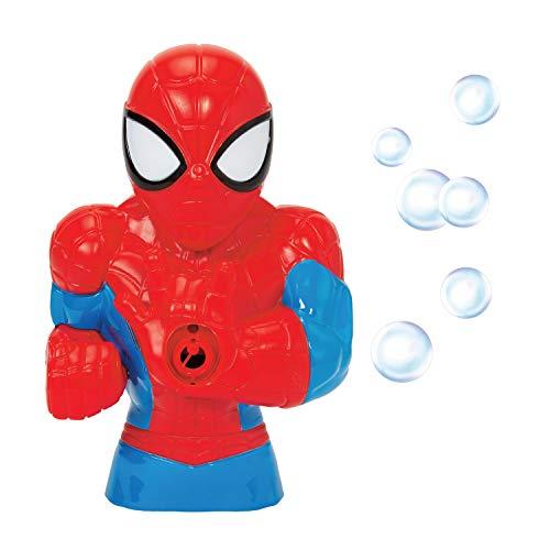 Little Kids Marvel Spider-Man Action Bubble Blower Machine, Includes Bubble Solution