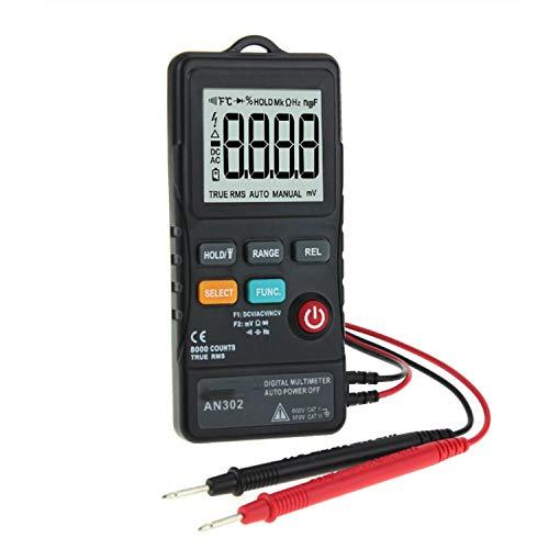 YEZIN Medidor Digital, An-302 de Alta precisión del Instrumento Mantenimiento del Electricista del multímetro de reconocimiento Inteligente de Engranaje