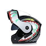 IAMZHL 2020 NeuesteModular Flip Motorrad Helm Voyage Racing Dual Lens Helm Innenvisier-a81-S
