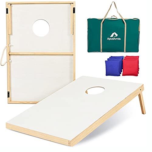 ApudArmis Wooden Cornhole Boards Set, 3x2Ft...