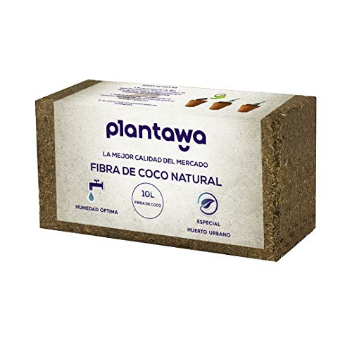 PLANTAWA Fibra de Coco 10L, Sustrato de Coco, Fibra de Coco Natural, Uso Huerto Urbano