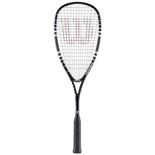 Wilson Hyper Hammer 120 Black Squash Racquet plus Choice of Balls (6, Dunlop Pro Balls)