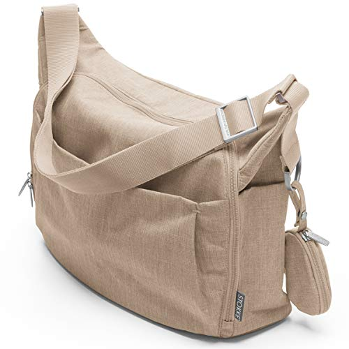 Stokke® Wickeltasche - Windeltasche mit faltbarer Wickelunterlage - Farbe: Beige Melange