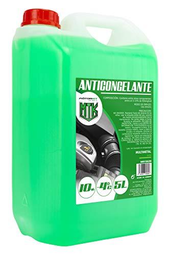 MOTORKIT MOT3536 5l grünes Frostschutzmittel mit 10%, geeignet für Klimazonen bis zu-4ºc, 5 l