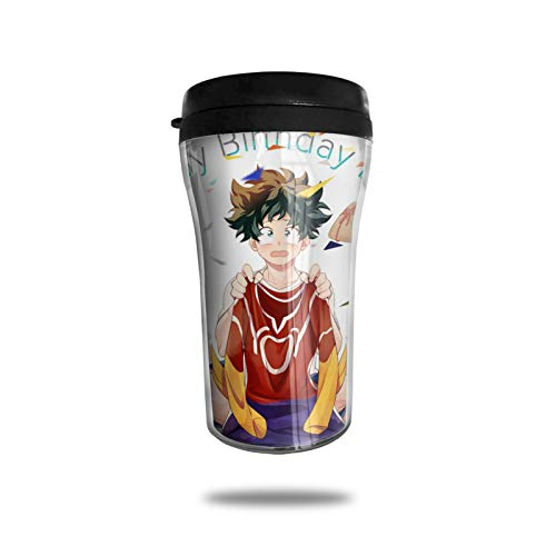 Anime My Hero Academia Coffee Cups Travel Mug Warmer Tumbler Cup, Customize Art Water Bottle Thermos Coffee Cups with Lids 250ml