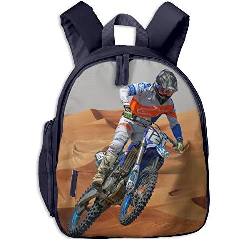 Kinderrucksack Motocross Dirt Bike Motorrad 13, Schulrucksack für Mädchen und Jungen Schultasche Schulranzen Teenager Backpack Daypack Freizeitrucksack Kinder Rucksack