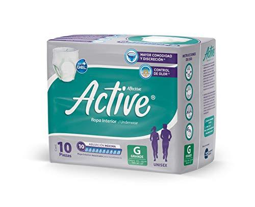 Affective Active Ropa Interior para Adultos, Unisex, Talla Grande, 60 piezas