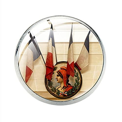 COLORFULTEA Insignias Broche Pin Cúpula De Cristal Vintage Broches De Abrigo con Clip De Acero Inoxidable para Regalo De Mujer