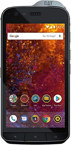 Caterpillar Cat S61 Smartphone (13,21 cm (5.2 Zoll) FHD IPS Bildschirm, 64 GB interner Speicher & 4 GB RAM, Dual-SIM, Android 8.0) Schwarz - FLIR Wärmebildkamera inkl. 12V KFZ Adapter