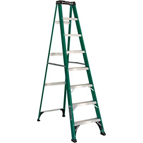 Louisville Ladder FS4008 Fiberglass Standard Step Ladder, 8 Feet, Green