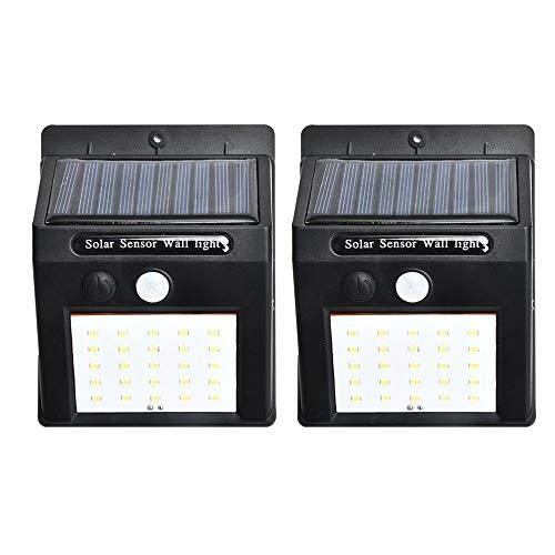2 unids/set 20 LED luces solares sensor de movimiento luz de pared jardín jardín jardín lámpara impermeable al aire libre impermeable luz