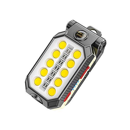 SUNASQ COB LED linterna portátil USB recargable luz de trabajo Lanterna colgante gancho lámpara para acampar al aire libre