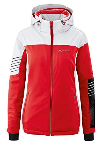 Maier Sports W Caldonazzo Colorblock-Rot, Damen Regenjacke, Größe 44 - Farbe Fire