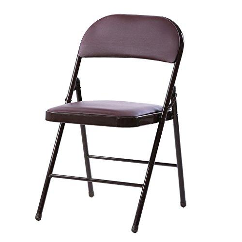 Chaises de bureau Chaises de réunion Accueil Chaises pliantes Chaises de retour Chaises de dortoir Chaises de loisirs 44 * 46 * 76cm ( Couleur : Marron )