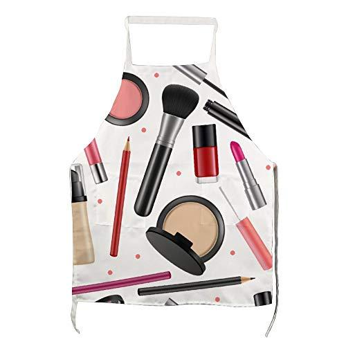 Schort Cosmetische Nagellak Poeder voor Polyester met Mannen en Vrouwen voor Koken, Barbecue en Bakken met Zakken