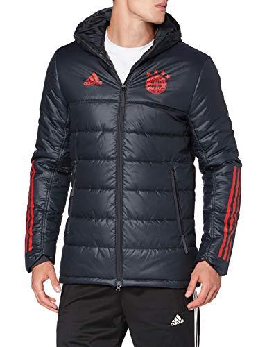 adidas Herren FC Bayern Winter Jacket Winterjacke, Ntgrey/Fcbtru, S