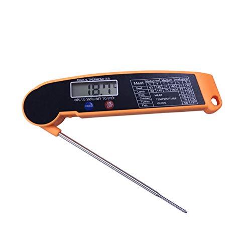 FNBA Termómetro para Alimentos, termómetro electrónico para Barbacoa, sonda, termómetro Plegable para Cocina