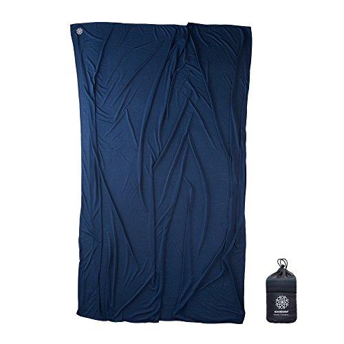 Bahidora Coolmax Reisedecke. 200x150cm. Ultraleichte Decke - ideal für Reisen. Geringes Packmaß, weich und atmungsaktiv (Dunkelblau)