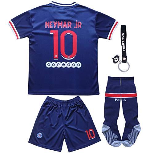 KINDERS Trikot Fußball für Kinder, Für Fans T-Shirts Jungen Heimtrikot Kinder Trikot Set 2021 Heim/Auswärts Trikot Mit Shorts und Socken