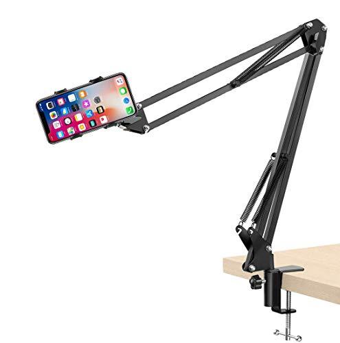 SLE Porta Telefono, Supporto Cellulare Tavolo Letto con Braccio Regolabile e Rotazione di 360 Gradi Supporta da 4'' a 6.5'' Smartphone iPhone 11 PRO XS Max XR X 8 7 6 Plus, Huawei