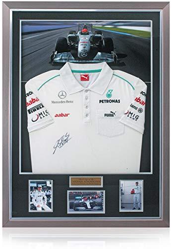 BSM Michael Schumacher handsigniertes offizielles Mercedes-Benz-Poloshirt