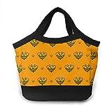 Orange Bee - Bolsa térmica para el almuerzo, diseño de abeja naranja
