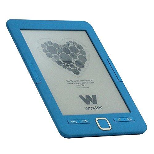 """Woxter E-Book Scriba 195 Blue- Lector de Libros electrónicos 6"""" (1024x758, E-Ink Pearl Pantalla más Blanca, EPUB, PDF) Micro SD, Guarda más de 4000 Libros, Textura engomada, Color Azul"""
