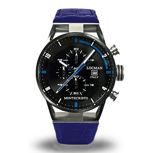 Orologio Cronografo Uomo Montecristo Blu Locman