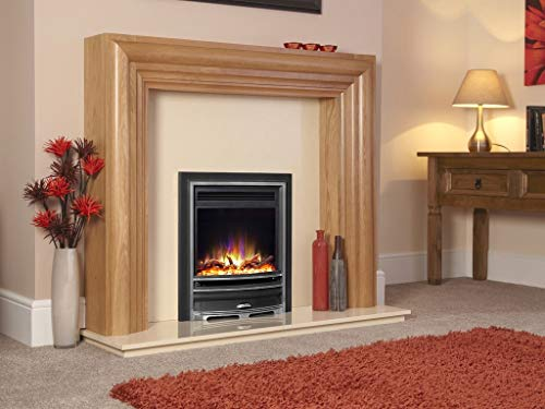 """New Designer Celsi Fire - Hearth Mounted Electric Fire 16"""" Electriflame XD Arcadia Silver"""