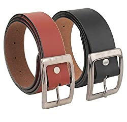 mbtees Mens Brown Belt Combo Pack (Free Size)
