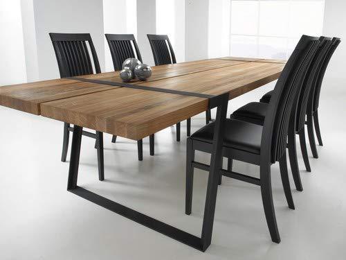 CANETT FURNITURE Gigant Luxus Skandinavisch Esstisch Designer Tisch, Ansteckplatten Vorberetiet, Eiche Massive, Holz, Eiche Natur, Geölt, 290 x 100 x 74 cm