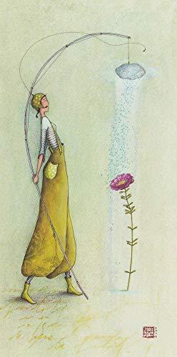 Kaart Gaëlle Boissonnard 2019 – bloem onder de douche – 10,5 x 21 cm Referentienummer: 15760.