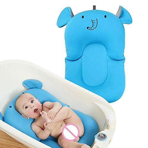 Tapis de Bain pour Nourrisson bébé, éponge de Nouveau-né antidérapante protègent la Colonne vertébrale appropriée à 0-2 Ans