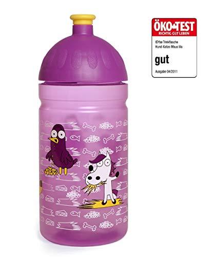 FreeWater Trinkflasche, 500ml, ISYbe Hund/Katze/Maus lila: schadstofffrei, kohlensäuredicht, spülmaschinengeeignet, langlebig