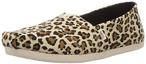 TOMS Women's Canvas Espadrilles Birch Leopard Print 7
