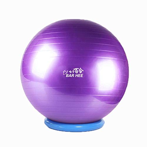 HSJ WDX- Bola de Yoga con Anillo de retención Bola de Gimnasia Grueso a Prueba de explosiones Respetuoso con el Medio Ambiente Pelota gimnástica Entrenamiento con detección de bebé Peso Suelto