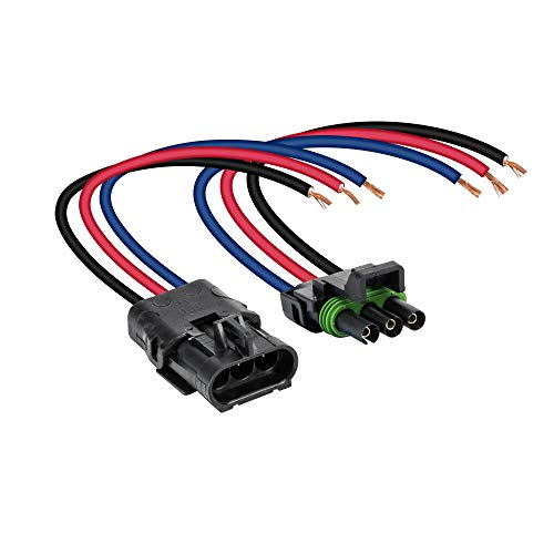 "ONLINE LED STORE 3-Wire Weather Pack Connector Kit Assembled with 10"" 12 AWG Wires"
