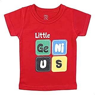 Z-Club Front Print Short Sleeves T-Shirt for Boys - Red, 12-18 Months