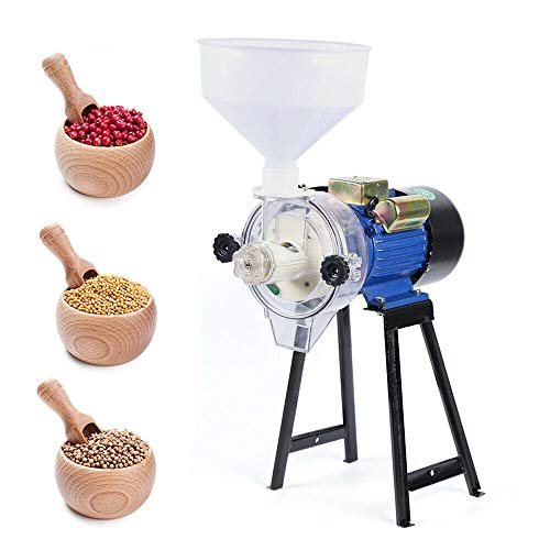 110V 2.2kW Electric Mill Grinder Wet Grinder Machine Feed Flour Milling Machine Cereals Grinder Rice Corn Grain Coffee Wheat with Funnel -  YILI2EnJI