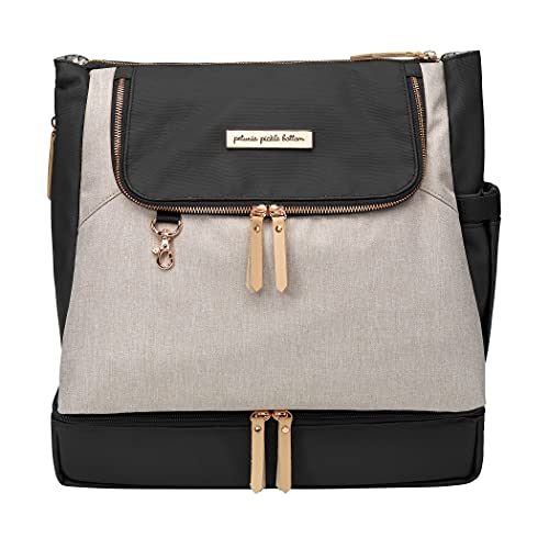 Petunia Pickle Bottom Pivot Backpack | Multiple carrying options (backpack or tote) | Insulated Pockets to Keep you Organized | Modern Silhouette with a Roomy Interior | Sand/Black