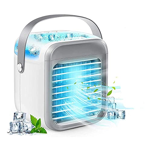 Portable Air Conditioner, 2021 Portable AC, Blast Portable Ac Wіth 3 Fаn Speeds, USB Rechargeable Blast Portable Air Conditioner, Personal Portable AC Fan for Home, Office (A)