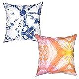 Garitin Tie-dye Patrón de impresión de moda multi-tamaño cuadrado funda de almohada de dos piezas decoración salón sofá dormitorio al aire libre