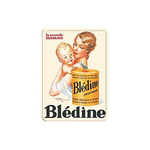 Editions Clouet 29079 - Petite Plaque métal 15x21 cm Blédine - Seconde Maman