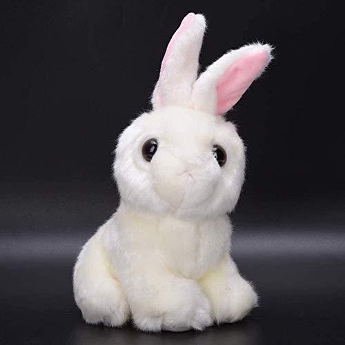 RENFEIYUAN Juguete de Peluche para niños bebé de Alta simulación Juguete Animal Suave para niños Decoración de Cama Conejo de Peluche (Color: Gris)-Rosado