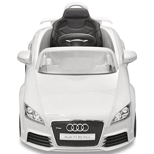 RC Auto kaufen Kinderauto Bild 3: vidaXL Kinder Elektroauto mit Fernbedienung Weiß Kinderfahrzeug Kinderauto*