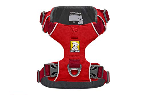 RUFFWEAR - Front Range Dog Harness, Reflective and Padded Harness for Training and Everyday, Red Sumac, XX-Small