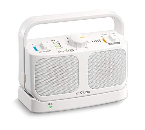 Victor JVC SP-A900-W テレビ用ワイヤレススピーカーシステム 生活防水仕様 連続20時間使用可能 みみ楽シリーズ ホワイト